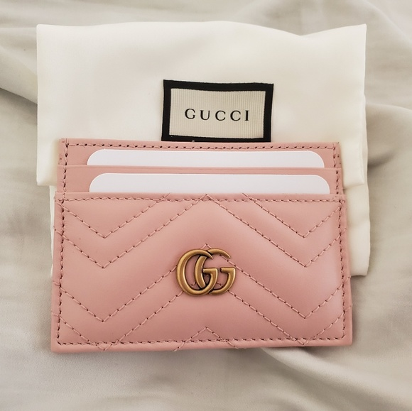 watch 04c84 f895a Gucci Marmont Card Holder Perfect Pink NWT
